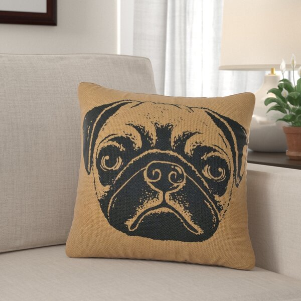 Brayton Pug Dog 100% Cotton Throw Pillow by Winston Porter